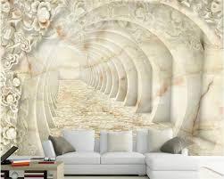 Beibehang Europese Stijl 3d Behang Patroon Jade Relief Marmeren Muur