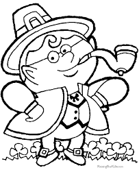 Small Picture Leprechaun Coloring Pages 003