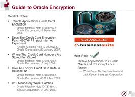 1 oracle corporation 22 january 2007 where the credit card numbers are d