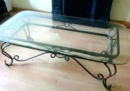 decoration wrought iron coffee tables bases rod round table base glass top