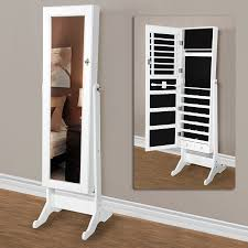 Mirrored Jewelry Cabinet Armoire Beautiful Mirror Jewelry Armoire