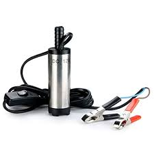 TOPCHK 12V 38mm Stainless Steel <b>Submersible</b> Pump <b>Water</b> Oil ...