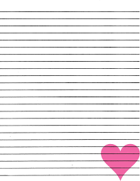 Free Lined Printable Paper Just Smashing Paper FREEBIE Pink heart lined paper printable 1