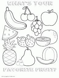 Dairy is a great option for hungry kids; Healthy Food Coloring Pages For Preschool Fruits Sheet Coloring Pages Printable Com