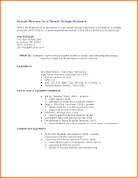 Resumes Examples For College Students 24 College Grad Resume Examples Graphicresume 18