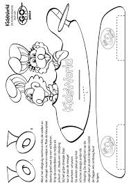 Kleurplaat Knipvliegtuigje Ko En Kiki Kleurplatennl