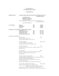 First Grade Teacher Resume Examples Examples Of Resumes With First
