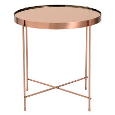 modern end tables  trinity copper side table  eurway