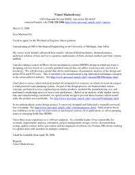 applying for an internship cover letter mechanical engineering student cover letter internship application