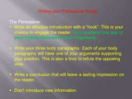 persuasive writing ppt video online writing your persuasive essay