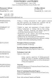 Sample Resume Auto Mechanic Basic Resume This One Is For An Auto Mechanic And Small