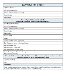 Payment Plan Template Payment Plan Template Sample Get Sniffer