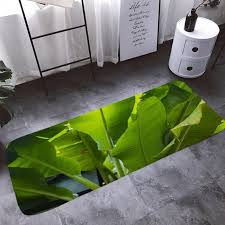 <b>Shanghaojupin</b> Nordic Banana Leaf Wind <b>Flannel</b> Anti-slip <b>Floor</b> Mat