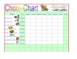 Chore Chart Template Word chore chart template free Ninjaturtletechrepairsco 1