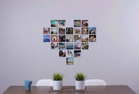 just hang the paper heart fill with it with 4x4 prints from postalpix remove the template and bam you ve got some sweet wall decor  on wall art collage template with heart collage maker popsugar tech