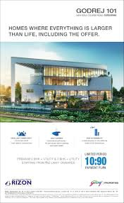 Grand Designs Payment Limited Period 10 90 Payment Plan At Godrej 101 In Sector 79