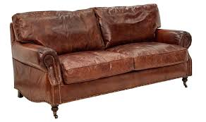Vintage Leather Sofa 3 Danish Sofas  For Sale   Antique21