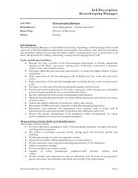 inspiration template housekeeping description for resume large size housekeeping job duties