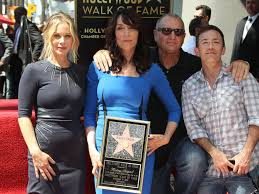 married with children cast. Interesting Married PHOTO Katey Sagal Center At Her Hollywood Walk Of Fame Star Ceremony In Married With Children Cast H