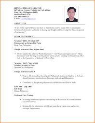 9 Curriculum Vitae Sample For Teachers Shawn Weatherly
