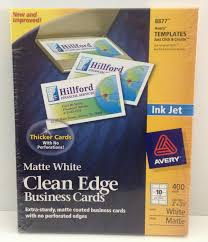 Avery 8870 Template 8877 Avery 2 Side Printable Clean Edge Business Cards Inkjet 2 X 3 1 2 White 400