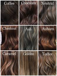 Medium Brown Hair Colour Chart Shades Of Brunette Milenashairdesign Hairinspiration