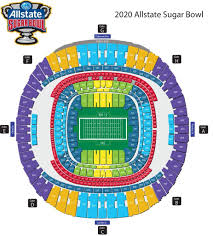 Seating Diagram Official Site Of The Allstate Sugar Bowl