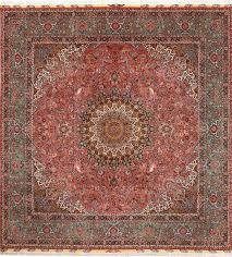 square animal motif vintage tabriz persian rug  by nazmiyal