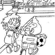 Small Picture Pupils going to school coloring pages Hellokidscom