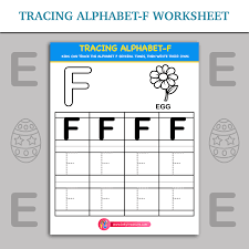 Tracing Alphabet- F worksheet | Inky Treasure