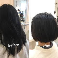 ボブ髪質改善縮毛矯正 段なしのボブスタイル まとまりやすく跳ね