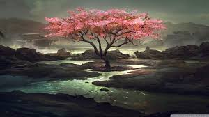 1920x1080 blossom tree painting wallpaper 1920x1080 wallpoper