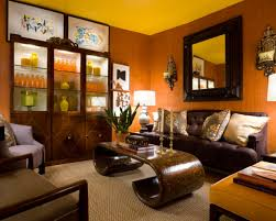 Orange And Brown Living Room Accessories Modern White Wall Orange Wood Floor Room That Can Be Decor With