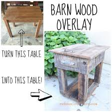 Upcycled Junk Table With Old Wood Overlay