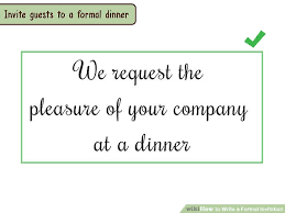 Engagement Invitation Format Enchanting 48 Ways To Write A Formal Invitation WikiHow