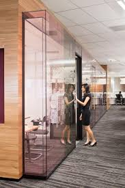 cool office partitions. Glass Bump Outs. Pink Glass, American Express, Singapore By Cool Office Partitions G