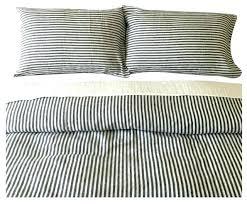 vintage ticking stripe duvet cover sham blue dark navy and white striped set handmade natural linen ticking stripe duvet cover