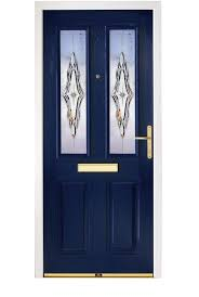 Exterior Design: Enchanting Dark Blue Composite Door With Unique ...