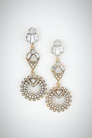 crystal chandelier earrings color yellow