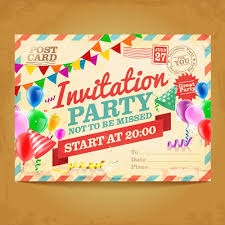 Photo Invitation Postcards Party Invitation Postcards Vector Free Vector In Adobe