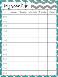 Weekly Timetable Planner Ultimate Guide Nanny Portfolio Nanny College