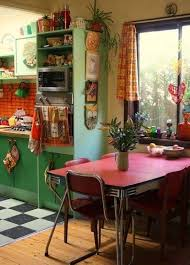 interior bohemian style of home interior design with retro