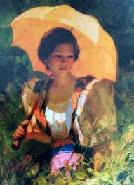 fernando amorsolo the yellow parasol