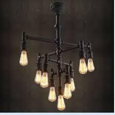 industrial steampunk chandelier lighting iron pipe edison bulb for modern residence 9 bulb chandelier remodel