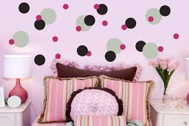 polka dot interior wall design