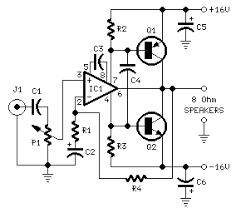 circuit diagram of class a amplifier the wiring diagram on simple amplifier schematic drawing for