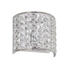dainolite lighting v677 1w pc crystal bathroom light polished chrome lighting universe