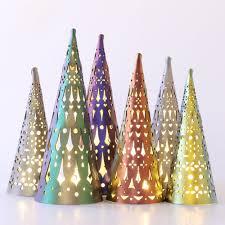 Christmas Tree Lights Amazon Amazon Com Mohop Holiday Luminaria Tree Lanterns Set Of 3