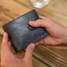 vintage personalised leather wallet