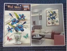 home sticker 3d flower wall art in